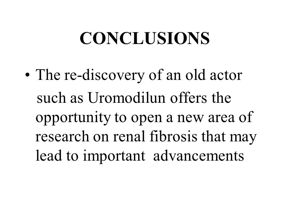 CONCLUSIONS The re-discovery of an old actor