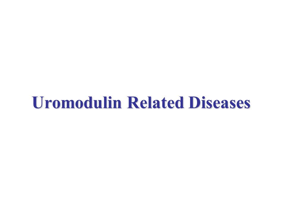 Uromodulin Related Diseases