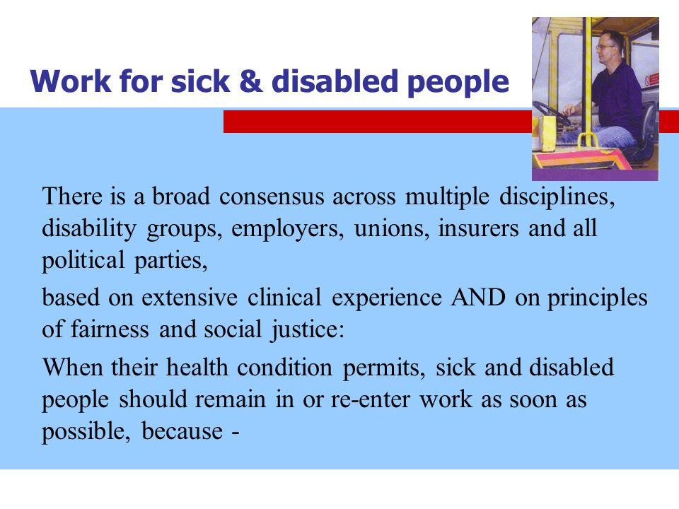 Work for sick & disabled people