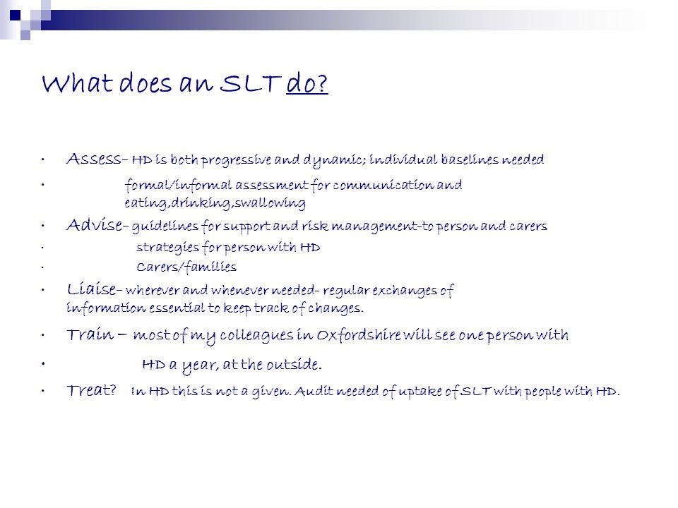 What does an SLT do HD a year, at the outside.