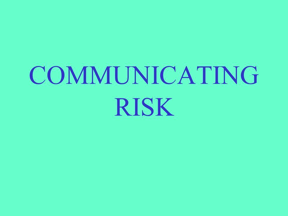 COMMUNICATING RISK