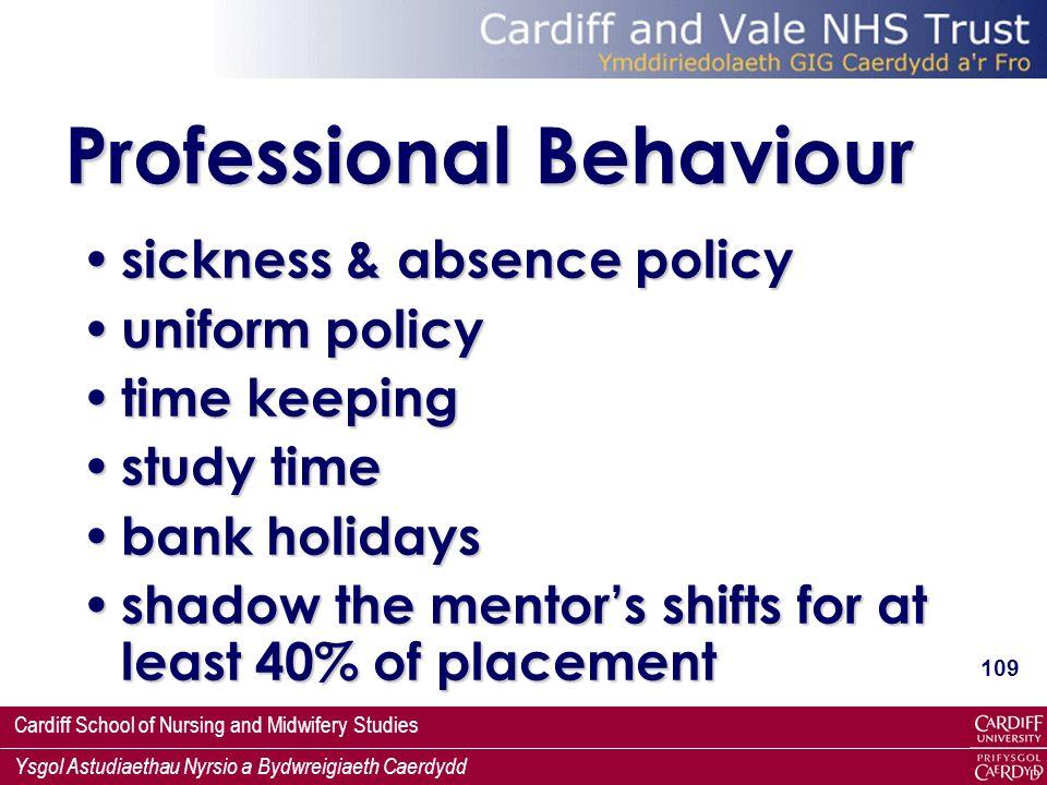 Professional Behaviour