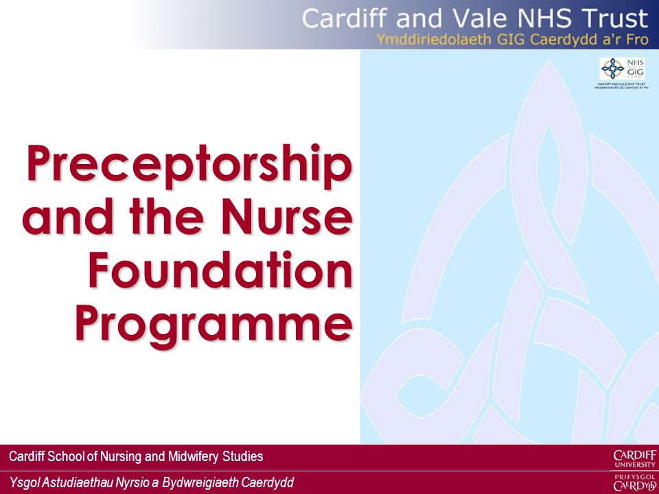 Preceptorship and the Nurse Foundation Programme