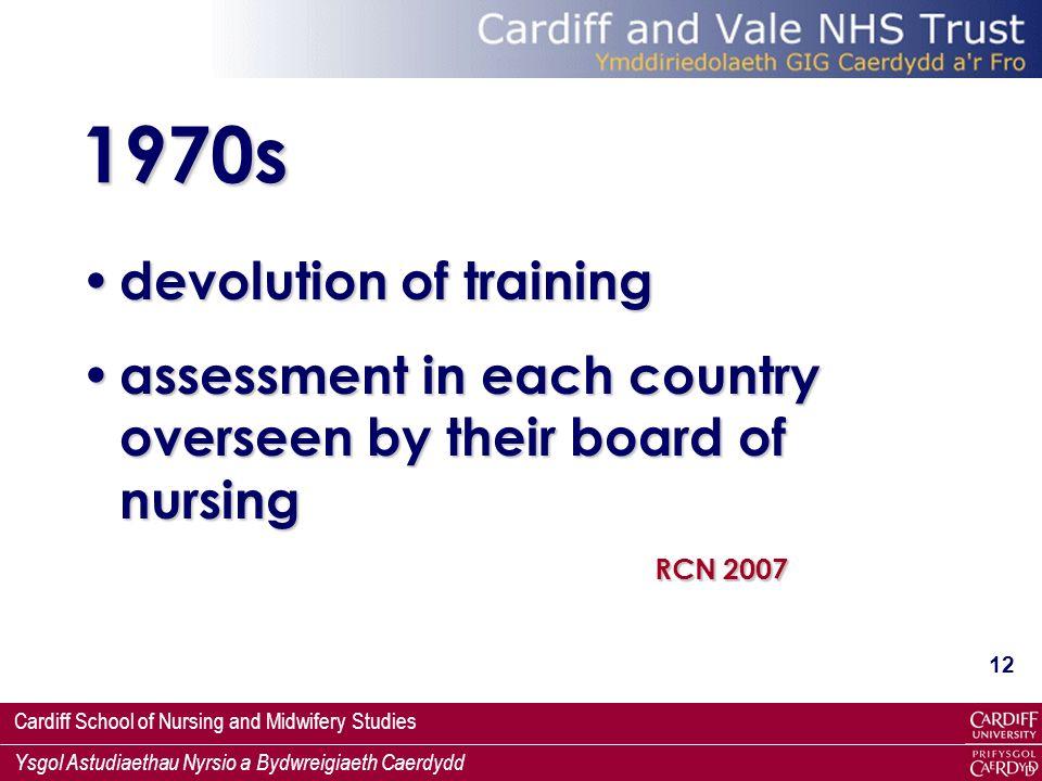 1970s devolution of training