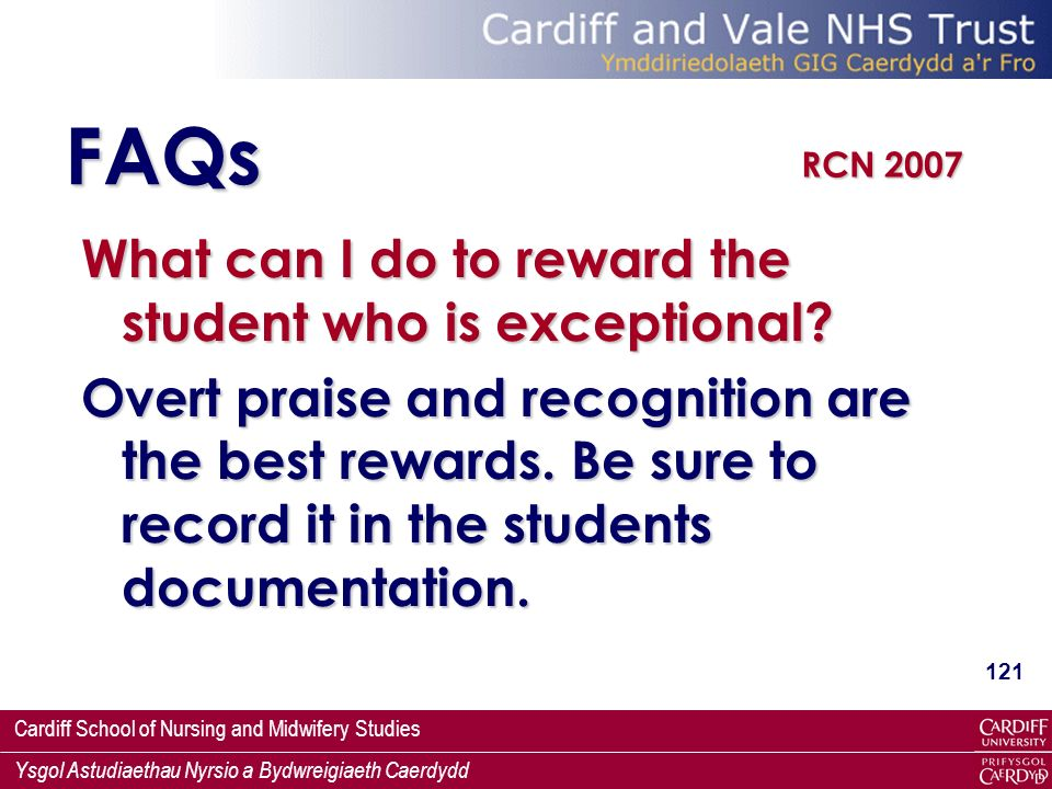 FAQs What can I do to reward the student who is exceptional