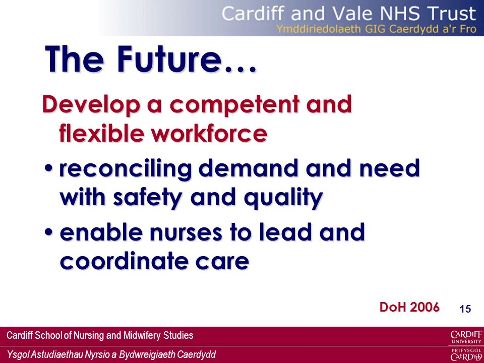 The Future… Develop a competent and flexible workforce