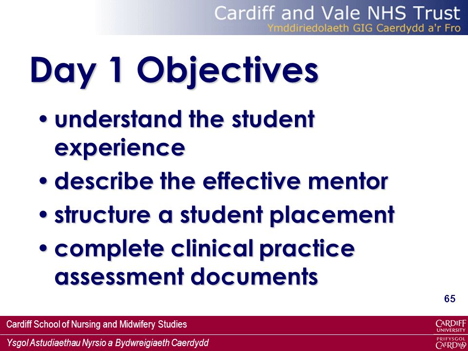 Day 1 Objectives understand the student experience