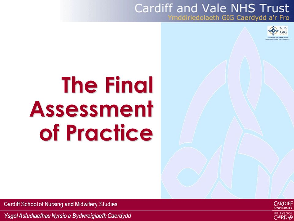 The Final Assessment of Practice