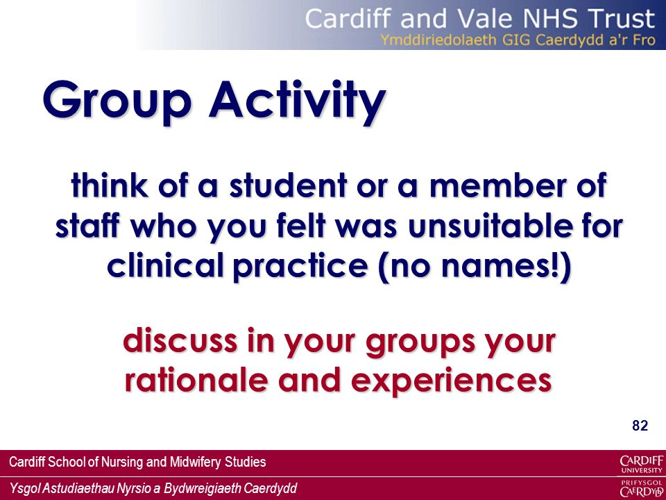 discuss in your groups your rationale and experiences
