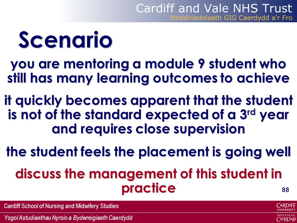 Scenario you are mentoring a module 9 student who still has many learning outcomes to achieve.