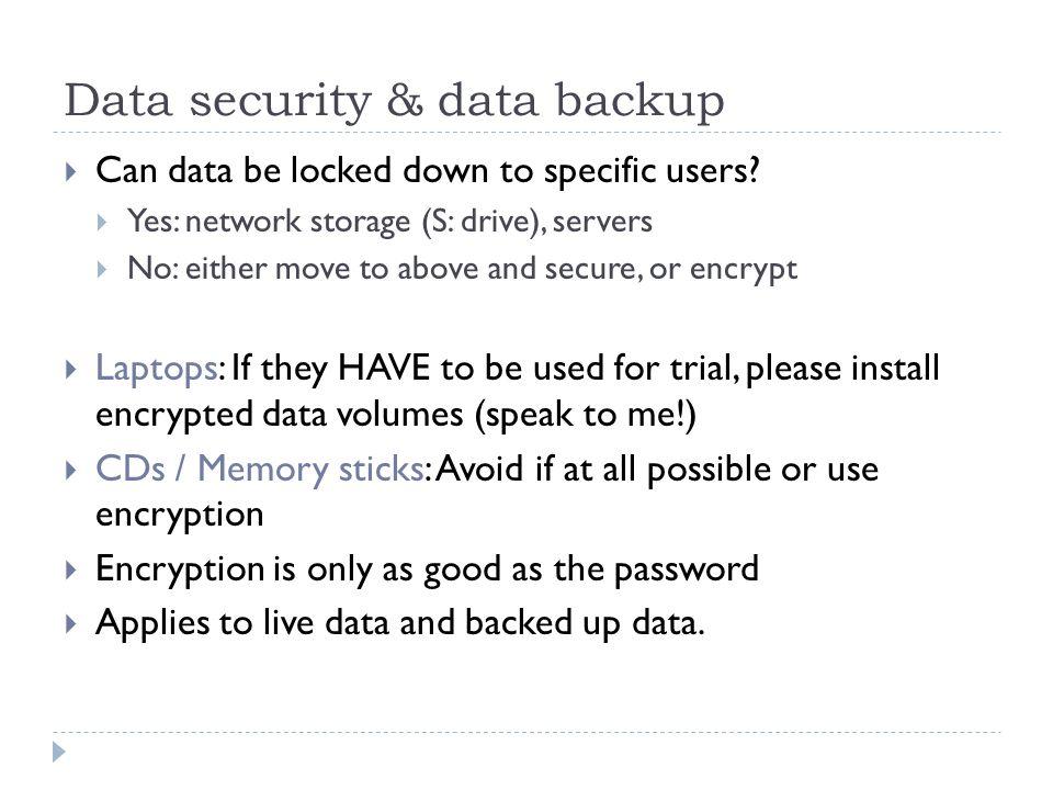 Data security & data backup