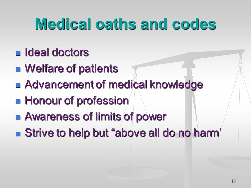 Medical oaths and codes