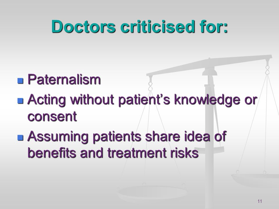 Doctors criticised for: