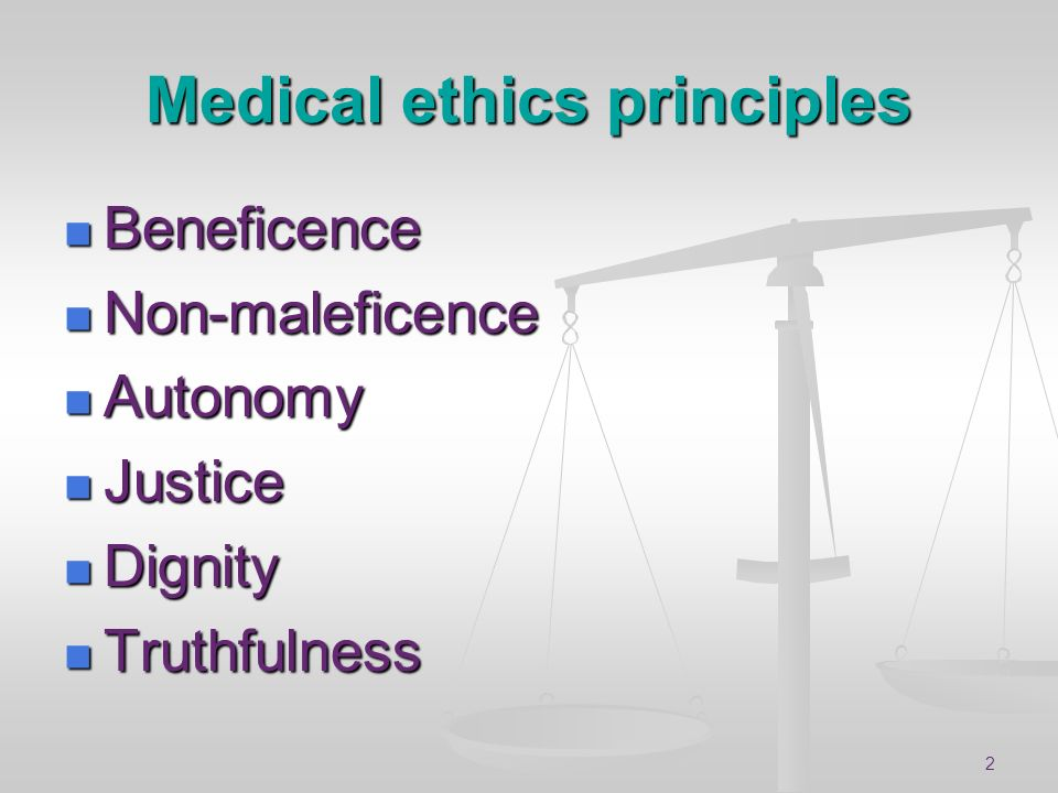 Medical ethics principles