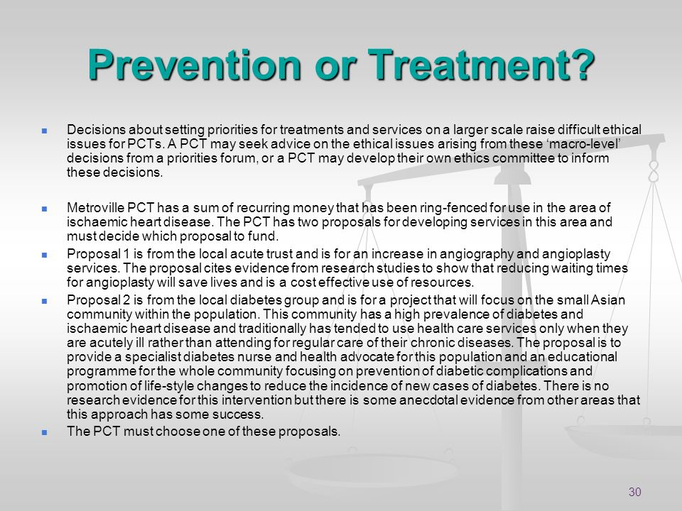 Prevention or Treatment