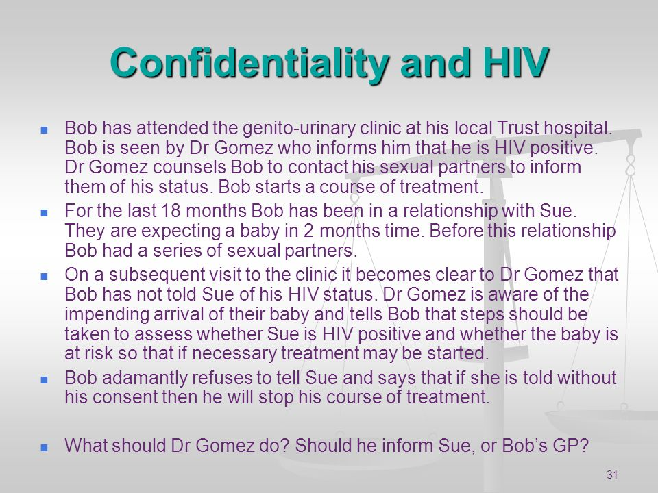 Confidentiality and HIV