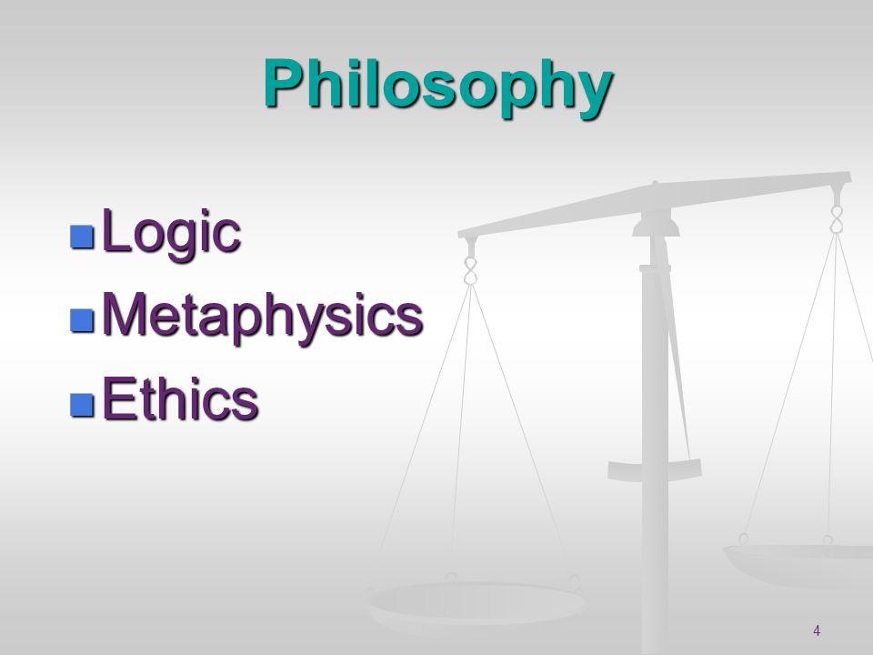 Philosophy Logic Metaphysics Ethics