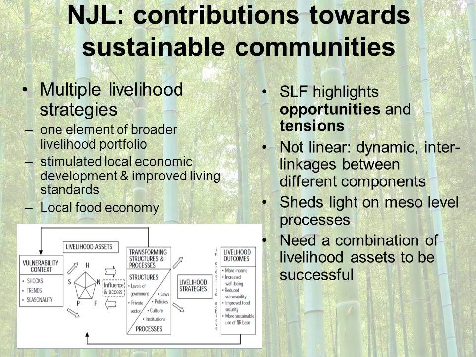 NJL: contributions towards sustainable communities