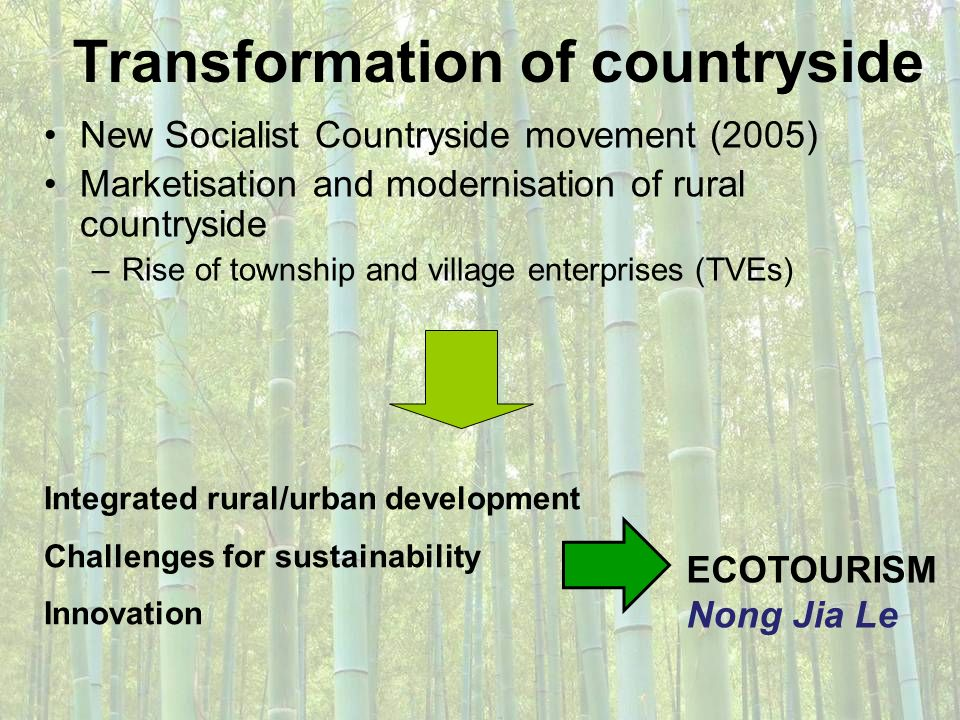 Transformation of countryside