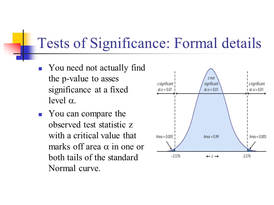 how to get 3 level of significance z value