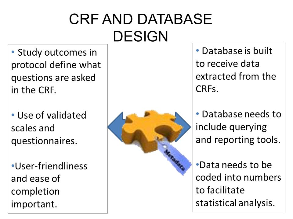 CRF AND DATABASE DESIGN