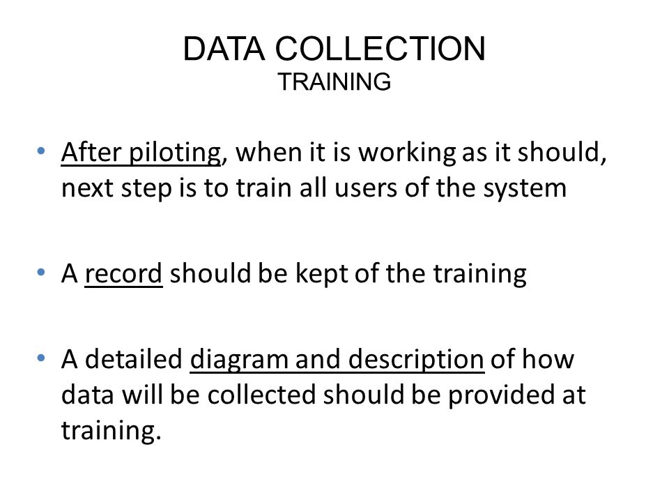 DATA COLLECTION TRAINING