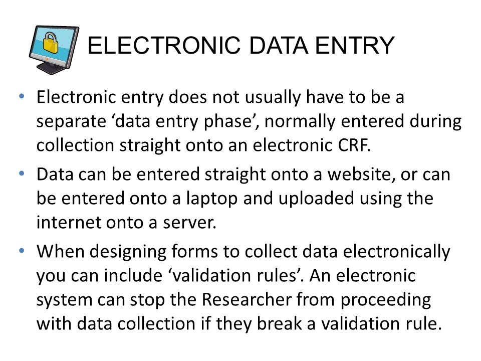 ELECTRONIC DATA ENTRY