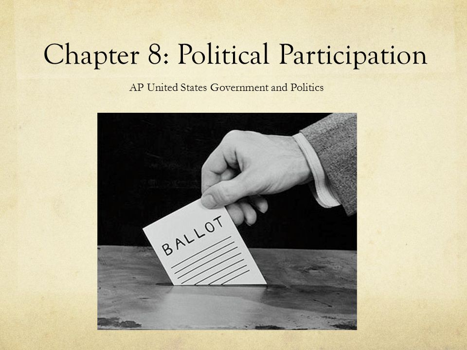 the importance of political participation among citizens