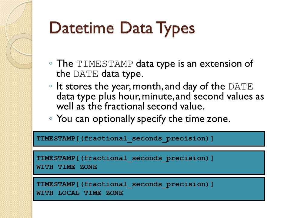 Difference Between MySQL DATETIME And TIMESTAMP DataTypes - mandegar