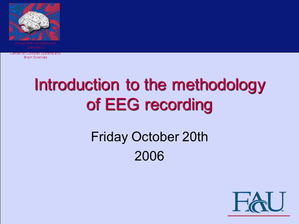Introduction To The Methodology Of Eeg Recording Ppt Video Online