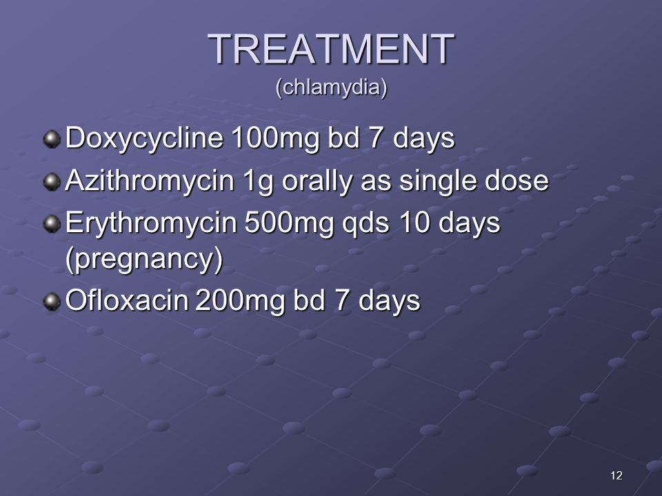 TREATMENT (chlamydia)