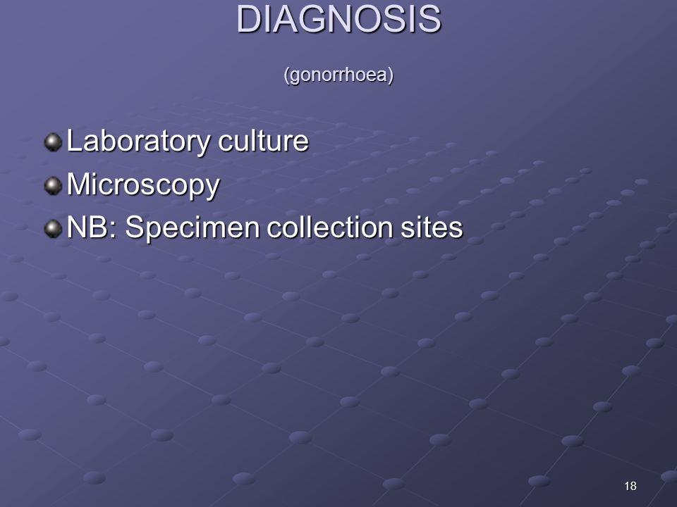 DIAGNOSIS (gonorrhoea)