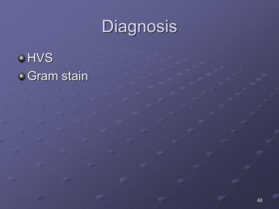Diagnosis HVS Gram stain
