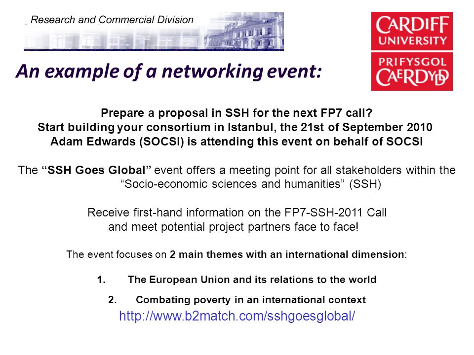 An example of a networking event: