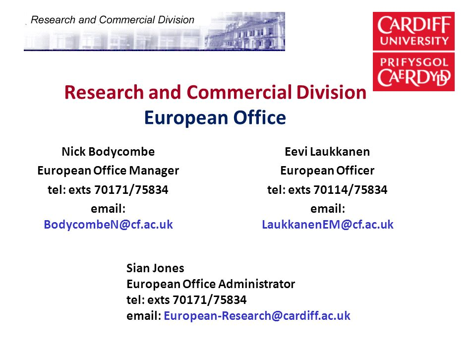 Research and Commercial Division European Office