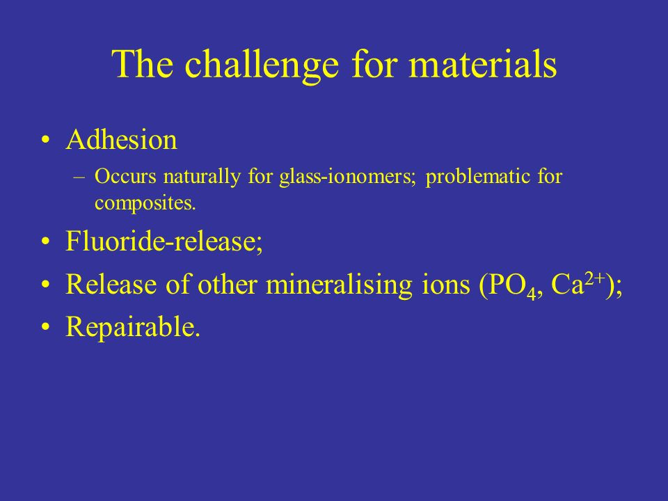The challenge for materials
