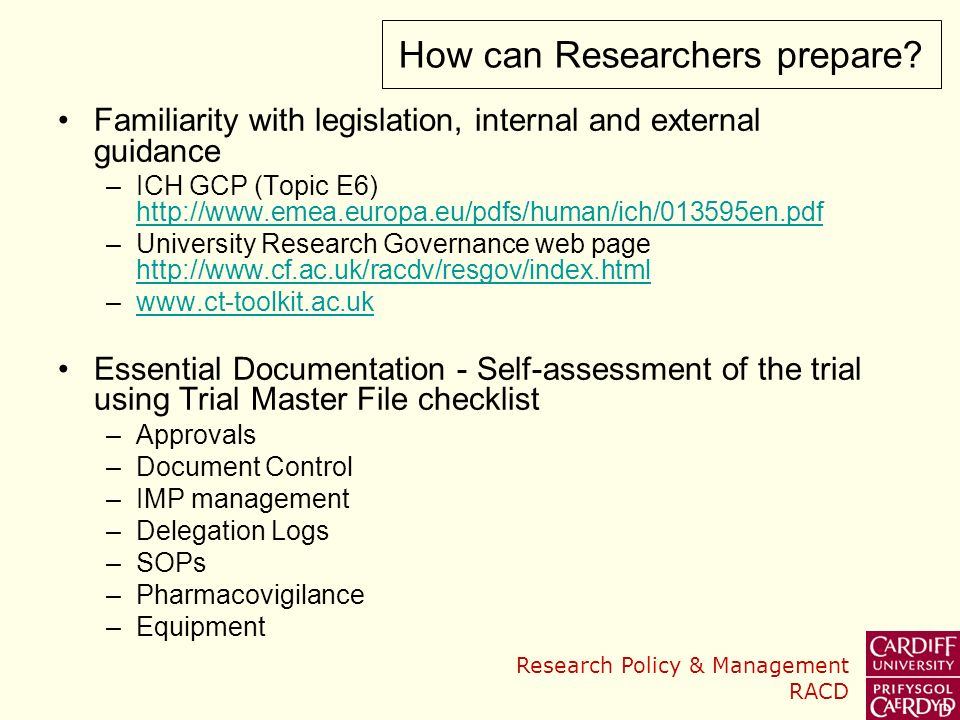 How can Researchers prepare