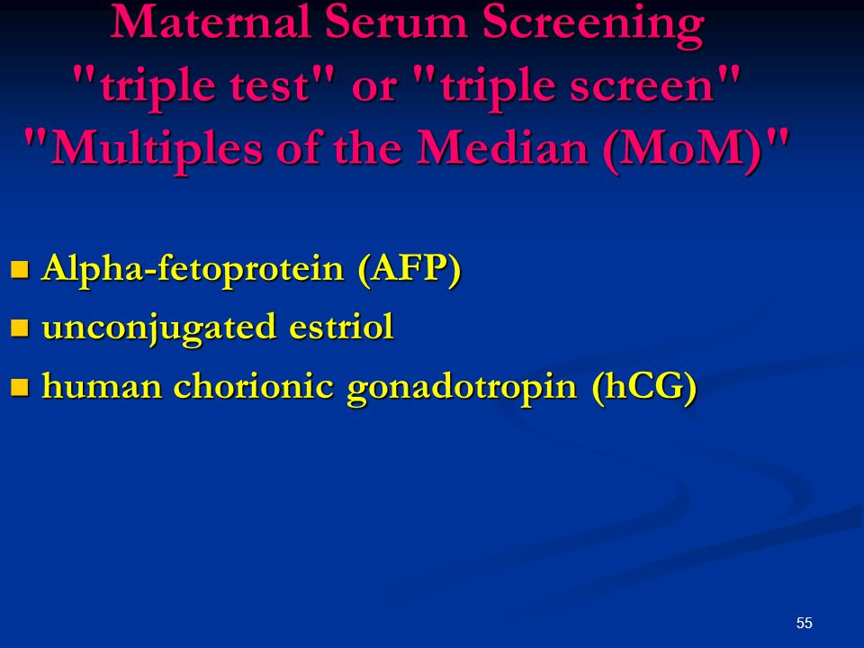 a study of the alpha fetoprotein maternal serum Alpha-fetoprotein (afp, α-fetoprotein also sometimes called alpha-1-fetoprotein, alpha-fetoglobulin, or alpha fetal protein) is a protein that in humans is encoded by the afp gene [7] [8] the afp gene is located on the q arm of chromosome 4 (4q25.