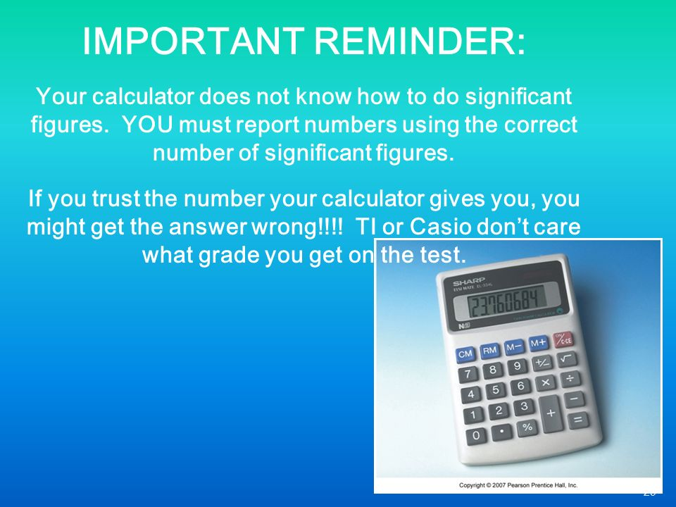 how to know how many significant figures to use
