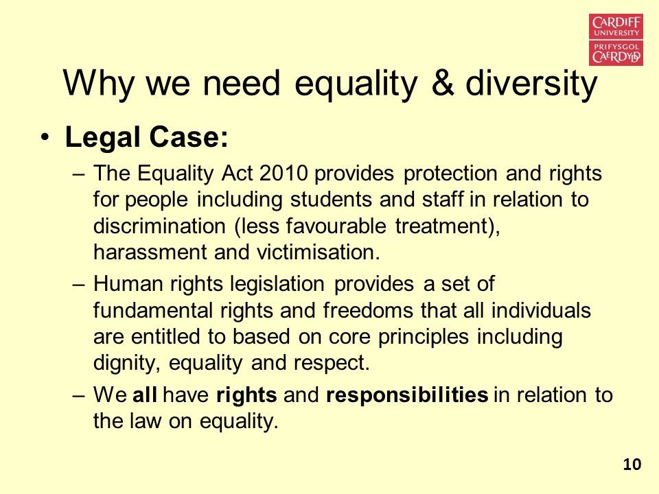 Why we need equality & diversity