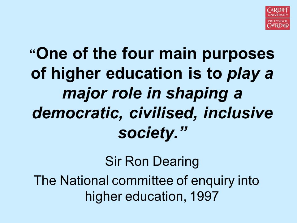 The National committee of enquiry into higher education, 1997