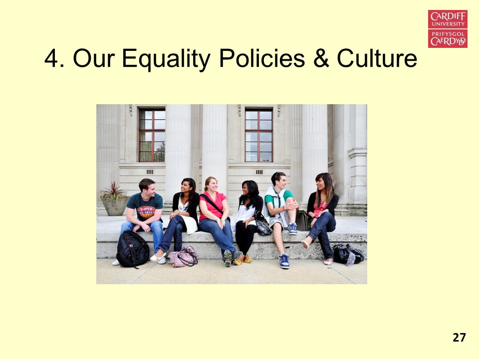 4. Our Equality Policies & Culture