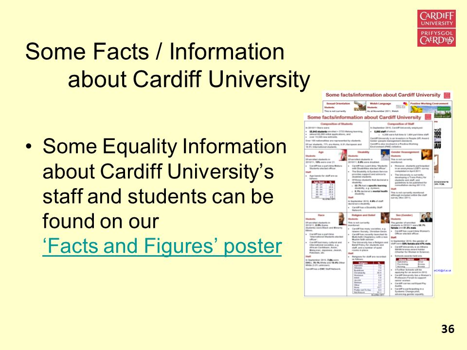 Some Facts / Information about Cardiff University