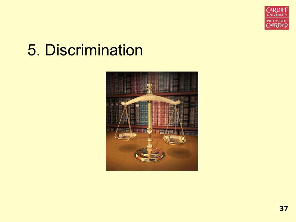 5. Discrimination 37