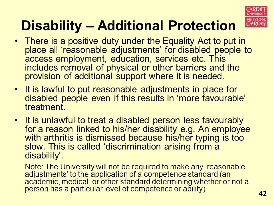 Disability – Additional Protection