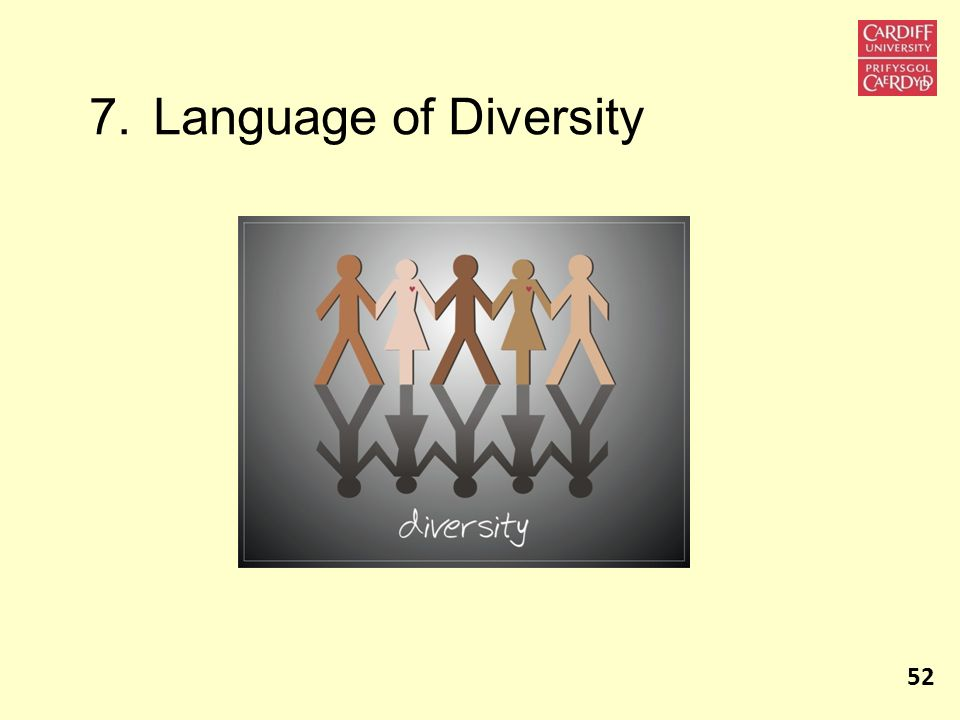 7. Language of Diversity 52