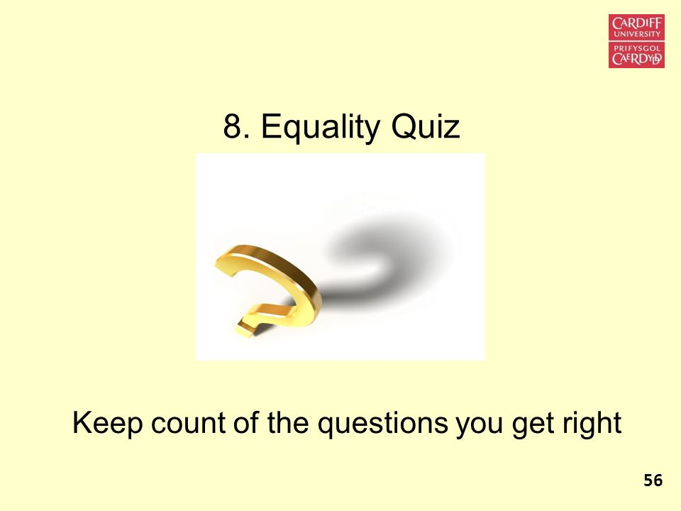 Keep count of the questions you get right