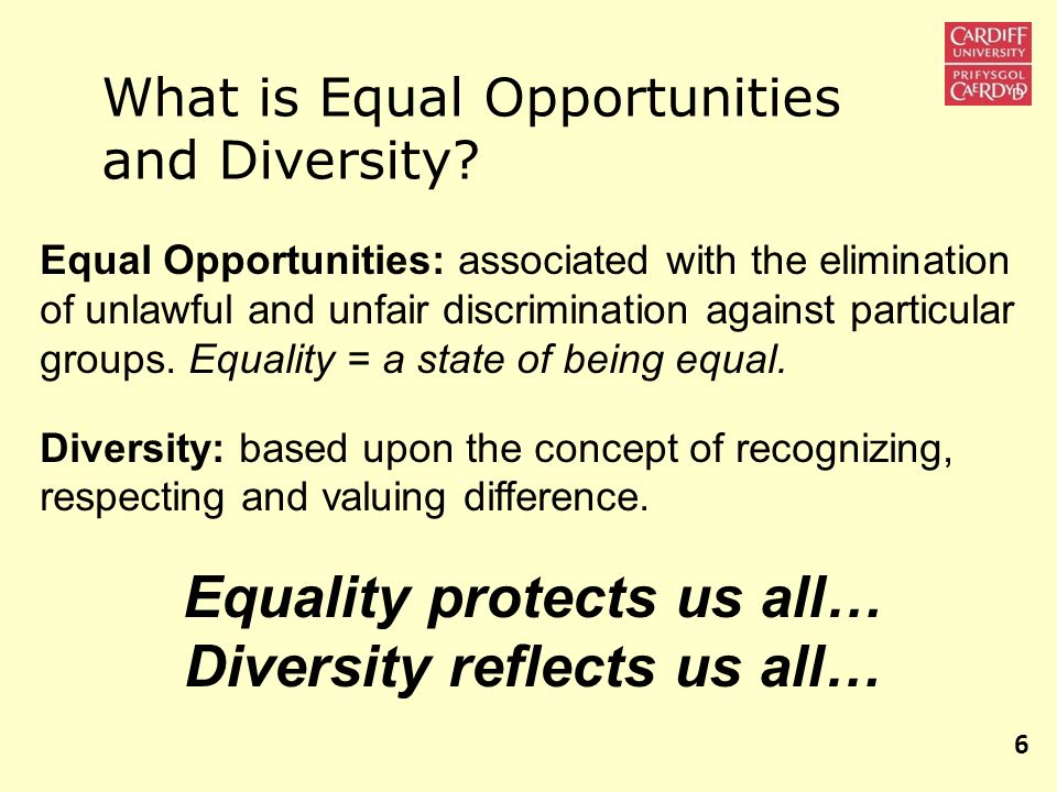 Equality protects us all… Diversity reflects us all…