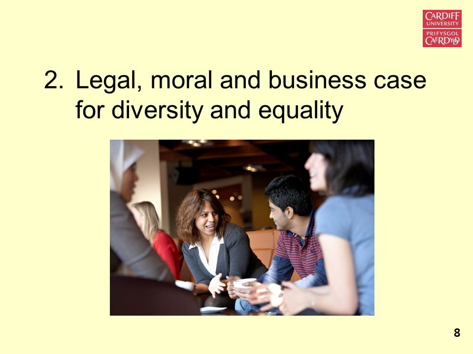Legal, moral and business case for diversity and equality