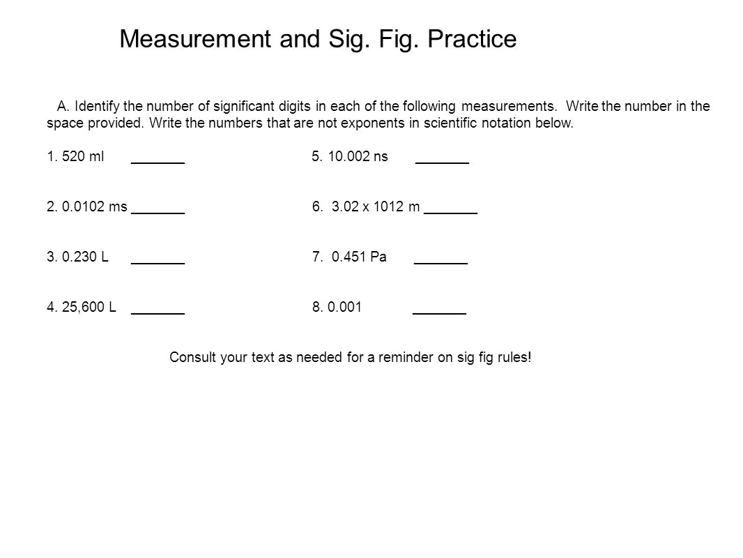 Uncategorized Significant Figures Practice Worksheet measurement and sig fig practice ppt download practice
